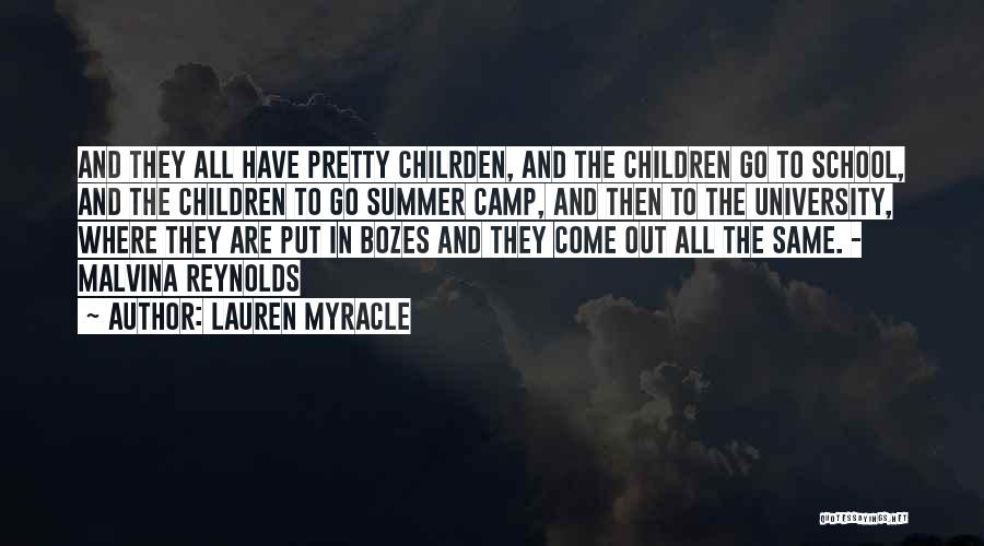Camp Out Quotes By Lauren Myracle