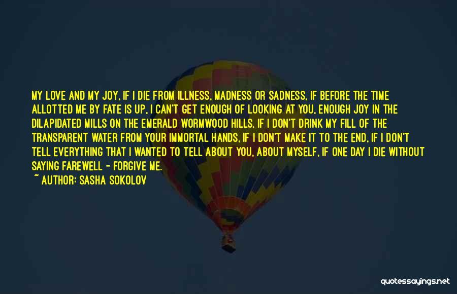 Can I Forgive Quotes By Sasha Sokolov