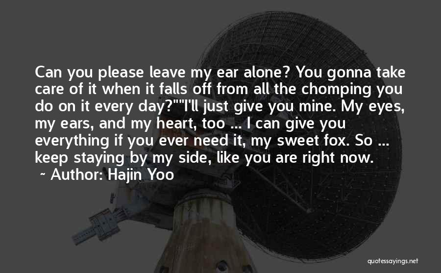 Can Take My Eyes Off You Quotes By Hajin Yoo