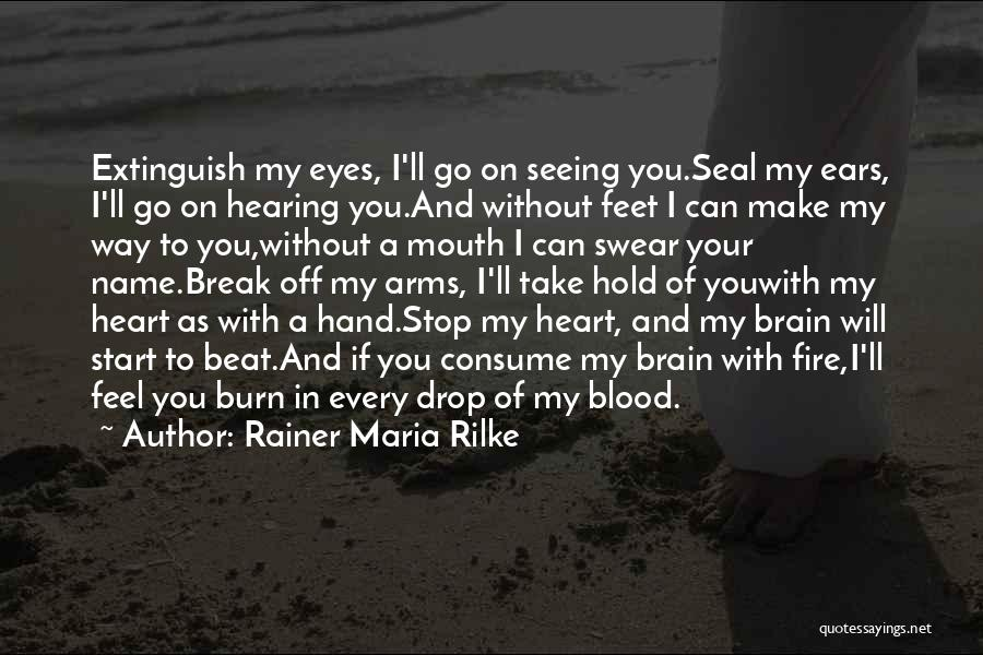 Can Take My Eyes Off You Quotes By Rainer Maria Rilke