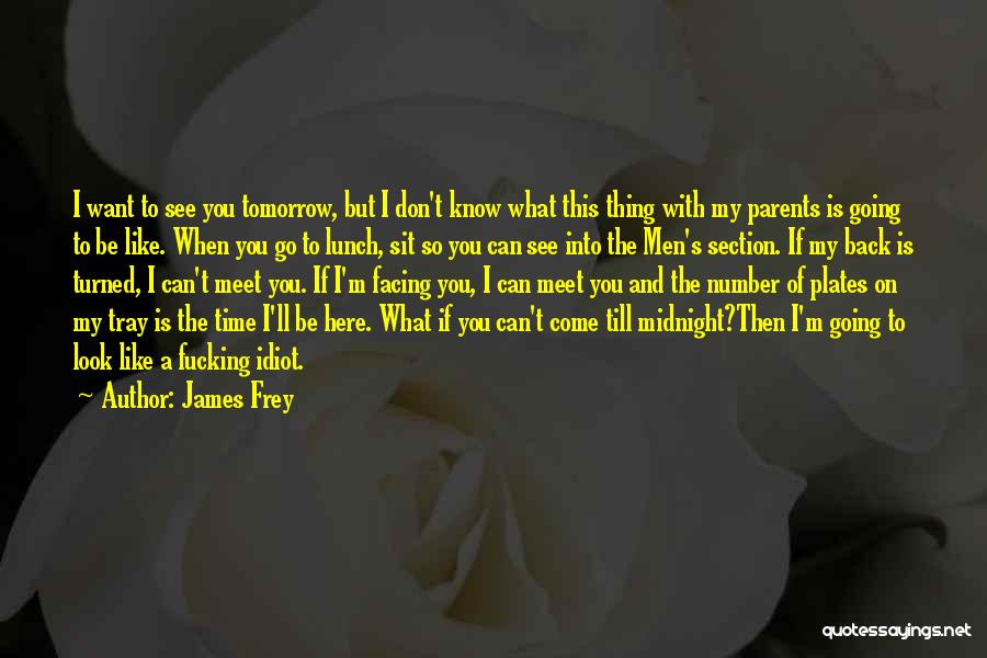 Can We Meet Tomorrow Quotes By James Frey