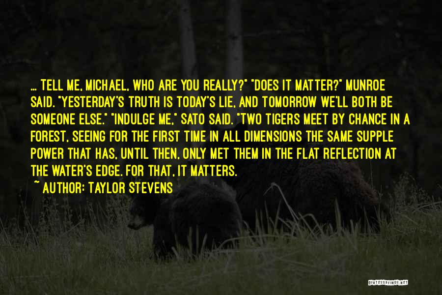 Can We Meet Tomorrow Quotes By Taylor Stevens