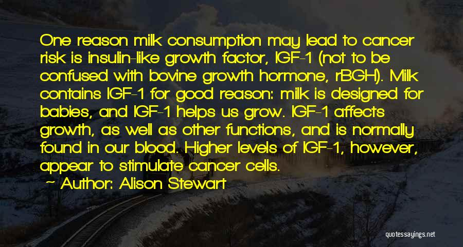 Cancer Cells Quotes By Alison Stewart