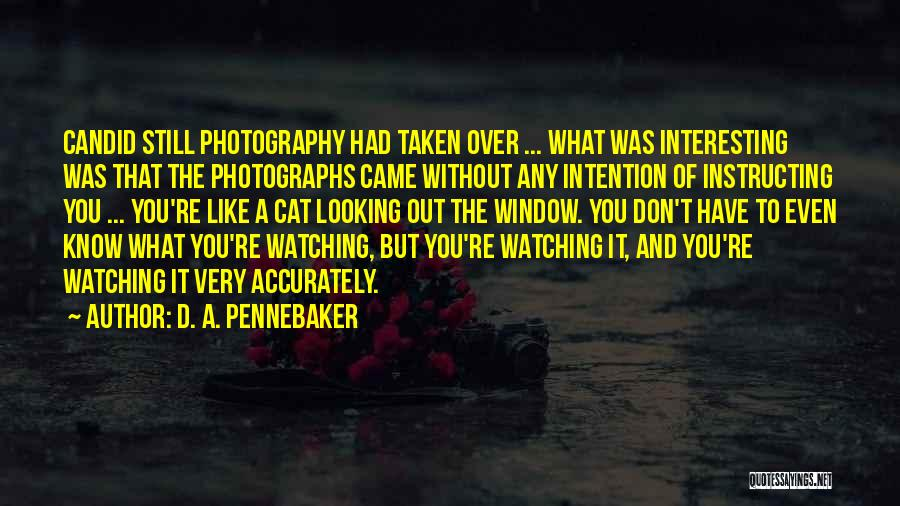 Candid Quotes By D. A. Pennebaker