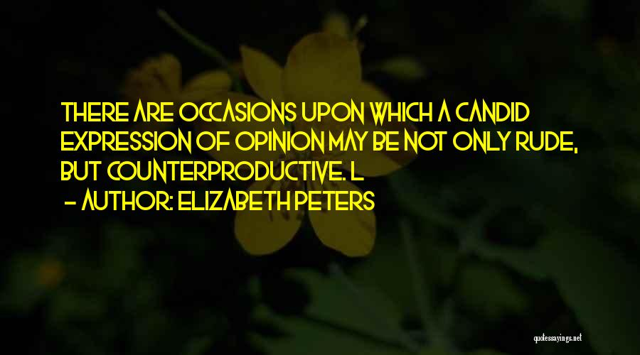 Candid Quotes By Elizabeth Peters