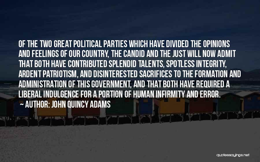 Candid Quotes By John Quincy Adams