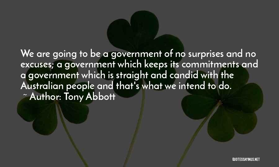 Candid Quotes By Tony Abbott