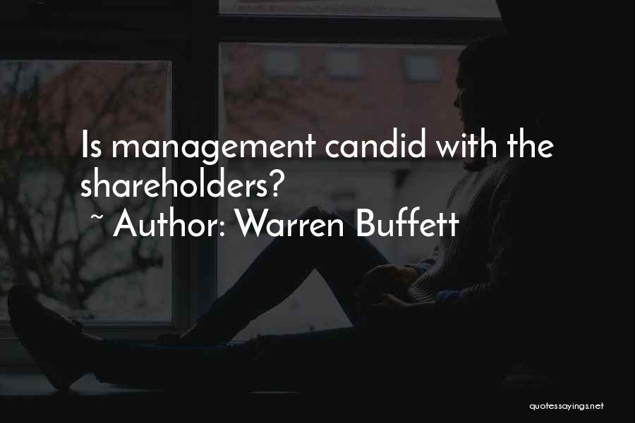 Candid Quotes By Warren Buffett