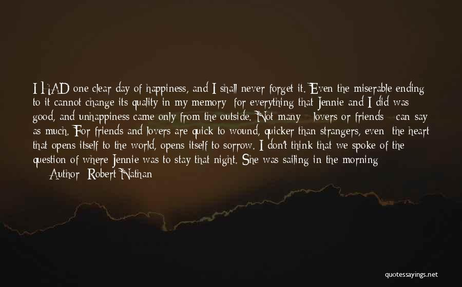 Cannot Forget Quotes By Robert Nathan