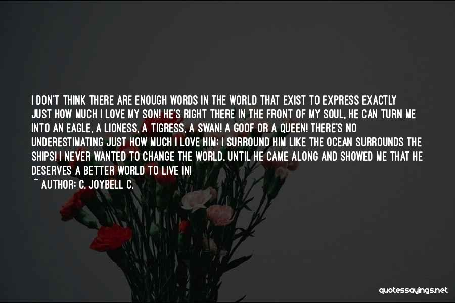 Can't Change Him Quotes By C. JoyBell C.