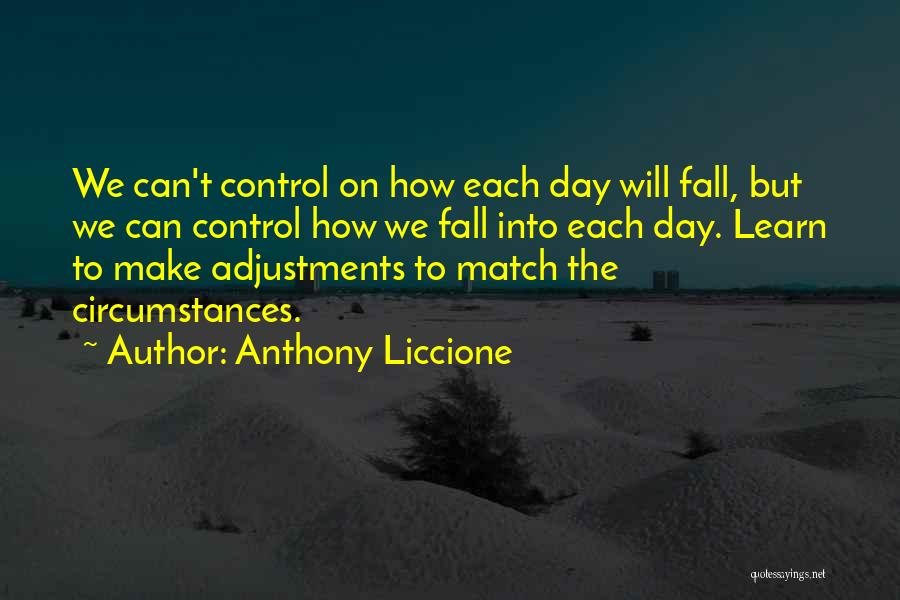 Can't Control The Situation Quotes By Anthony Liccione