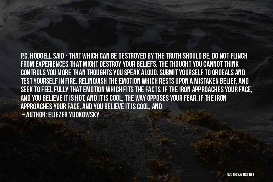 Can't Face The Truth Quotes By Eliezer Yudkowsky