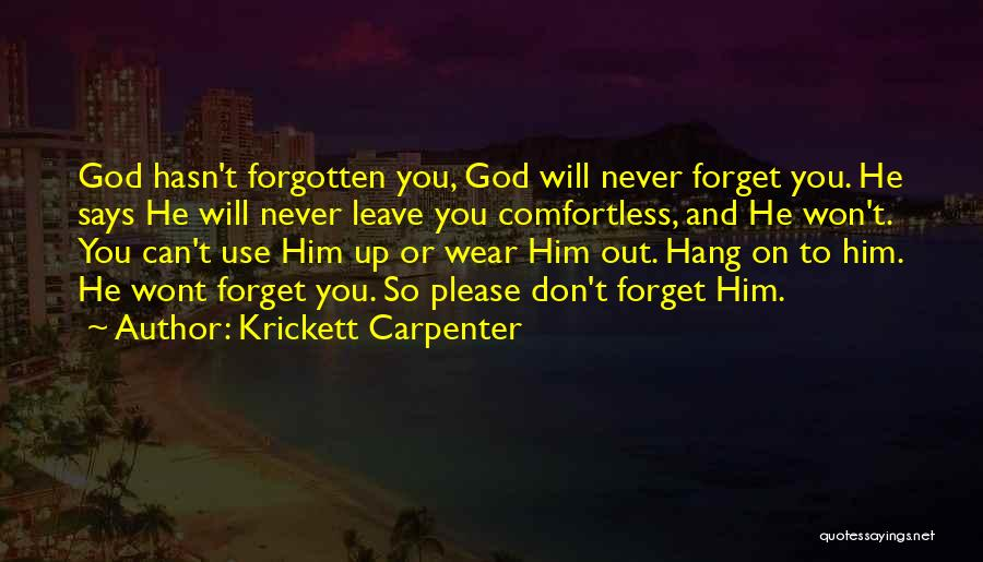 Can't Forget Him Quotes By Krickett Carpenter