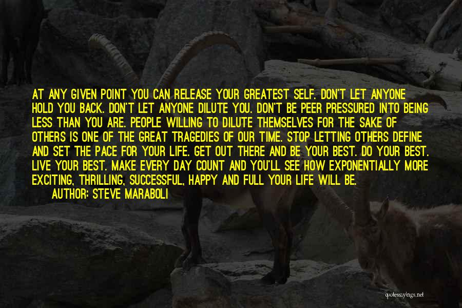 Can't Hold You Back Quotes By Steve Maraboli