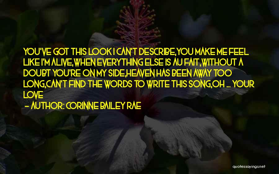 Can't Look Away Quotes By Corinne Bailey Rae
