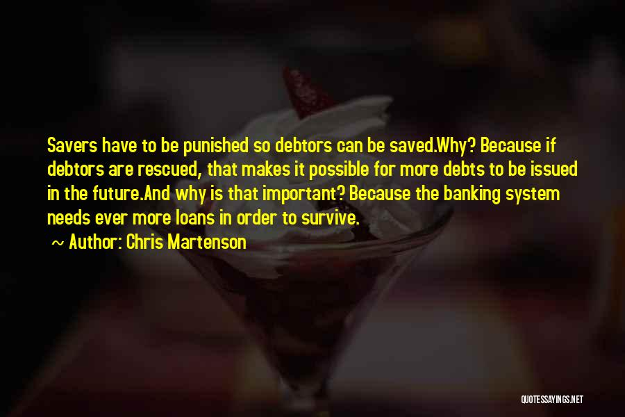 Can't Save Money Quotes By Chris Martenson
