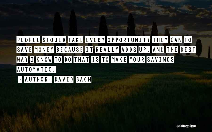 Can't Save Money Quotes By David Bach