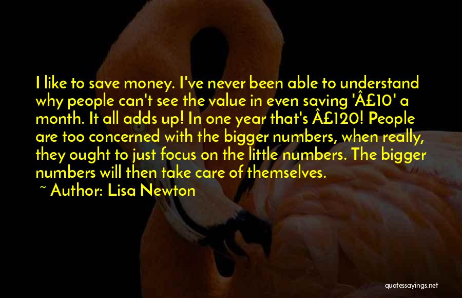 Can't Save Money Quotes By Lisa Newton