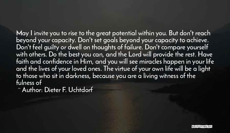Can't Sit Down Quotes By Dieter F. Uchtdorf