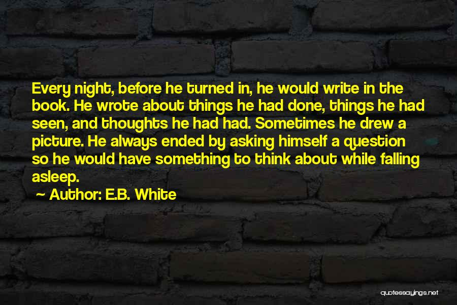Can't Sleep Picture Quotes By E.B. White
