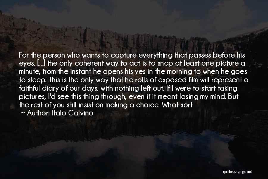 Can't Sleep Picture Quotes By Italo Calvino