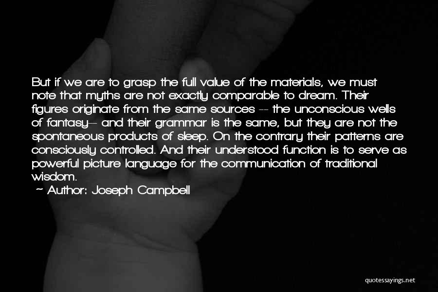 Can't Sleep Picture Quotes By Joseph Campbell