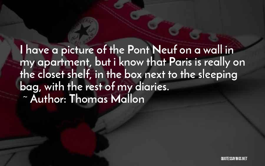 Can't Sleep Picture Quotes By Thomas Mallon