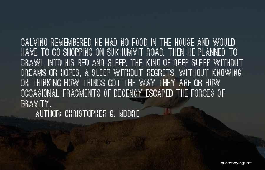 Can't Sleep Thinking Of Her Quotes By Christopher G. Moore
