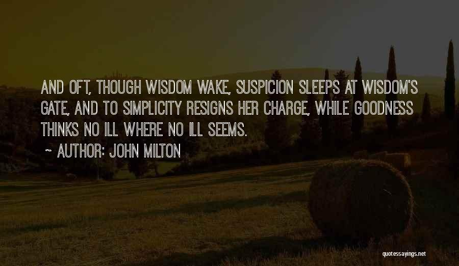 Can't Sleep Thinking Of Her Quotes By John Milton