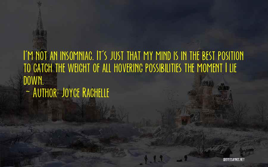 Can't Sleep Thinking Of Her Quotes By Joyce Rachelle