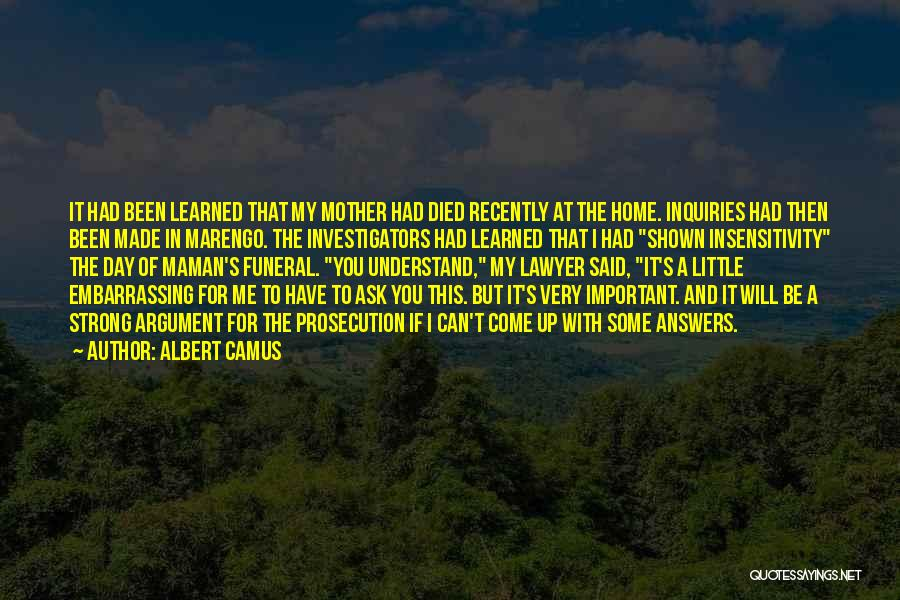 Can't Understand Me Quotes By Albert Camus