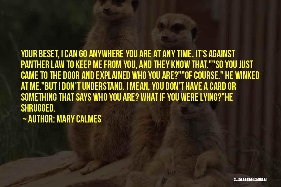 Can't Understand Me Quotes By Mary Calmes