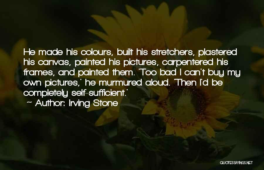 Canvas To Buy Quotes By Irving Stone