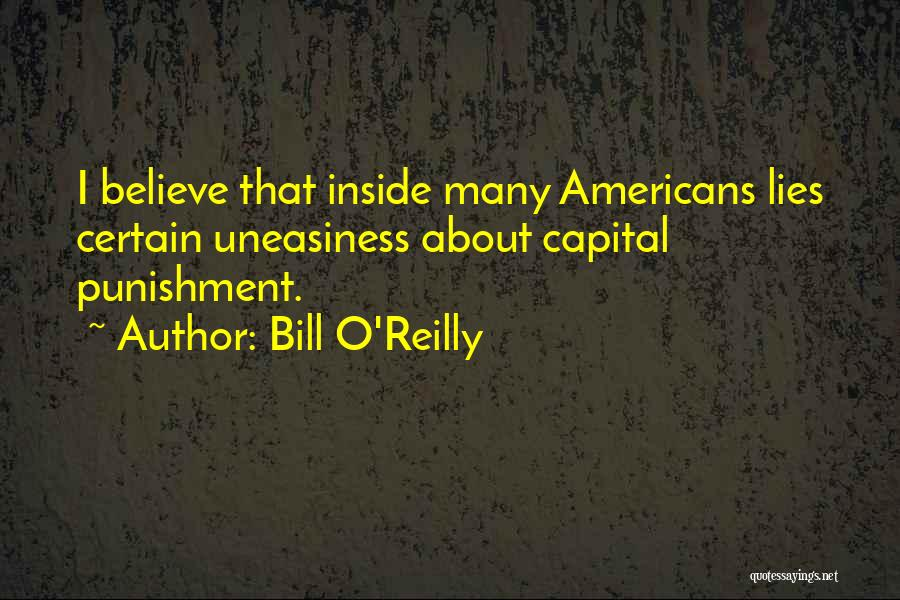 Capital Punishment Quotes By Bill O'Reilly