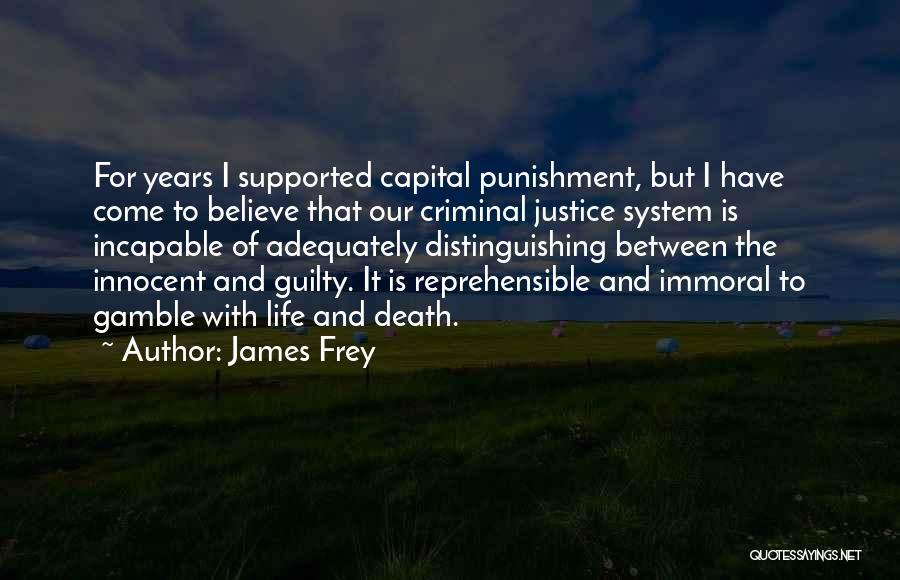 Capital Punishment Quotes By James Frey