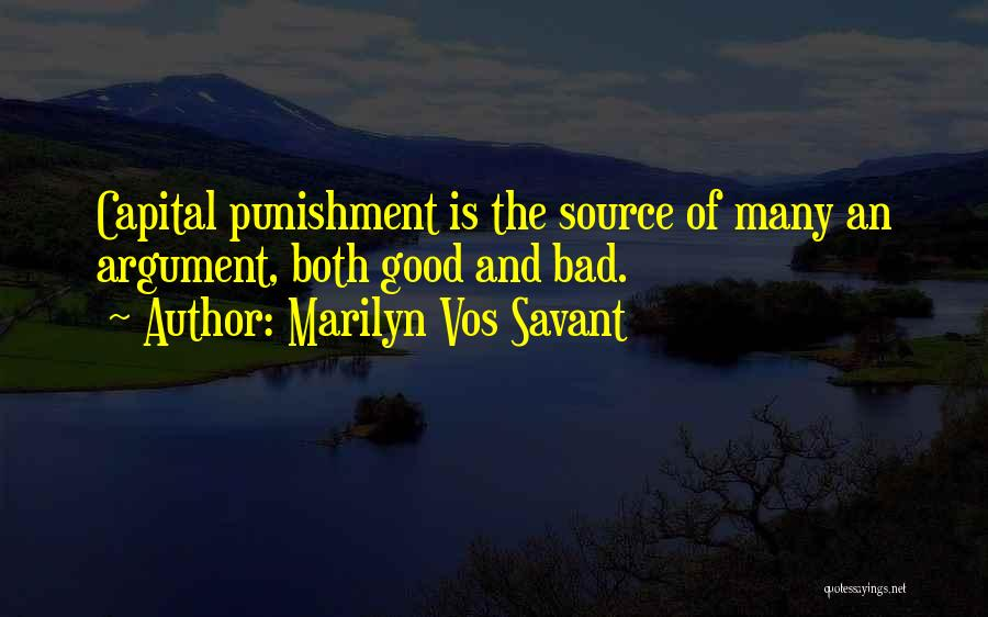Capital Punishment Quotes By Marilyn Vos Savant