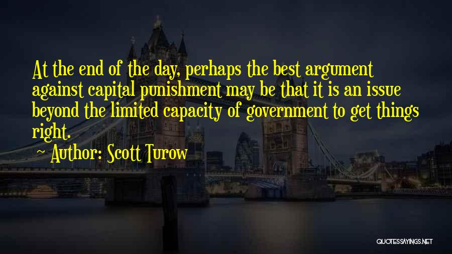 Capital Punishment Quotes By Scott Turow
