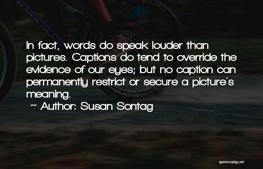 Captions Quotes By Susan Sontag