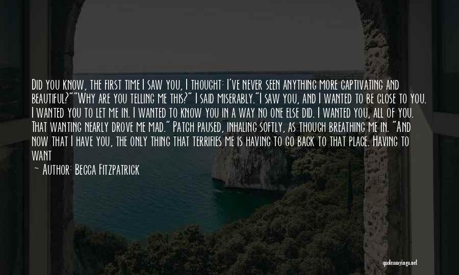 Captivating Quotes By Becca Fitzpatrick