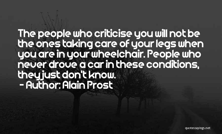 Car Care Quotes By Alain Prost