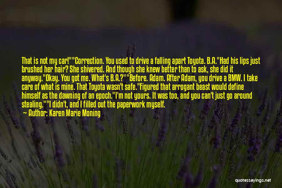 Car Care Quotes By Karen Marie Moning