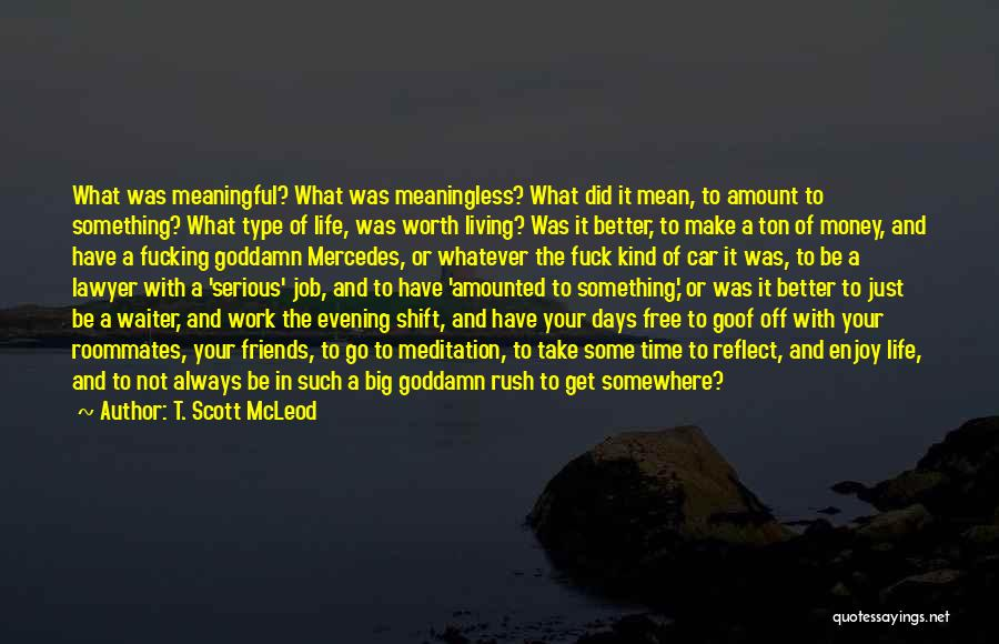 Car Worth Quotes By T. Scott McLeod