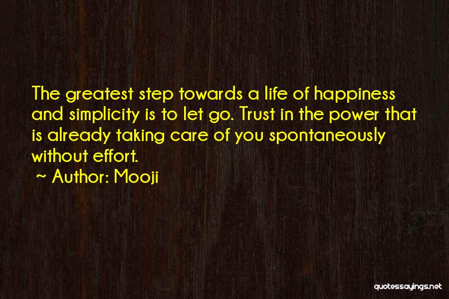 Care And Trust Quotes By Mooji