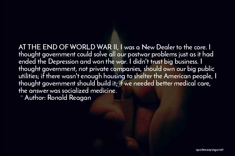Care And Trust Quotes By Ronald Reagan