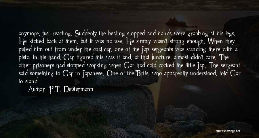 Care Anymore Quotes By P.T. Deutermann
