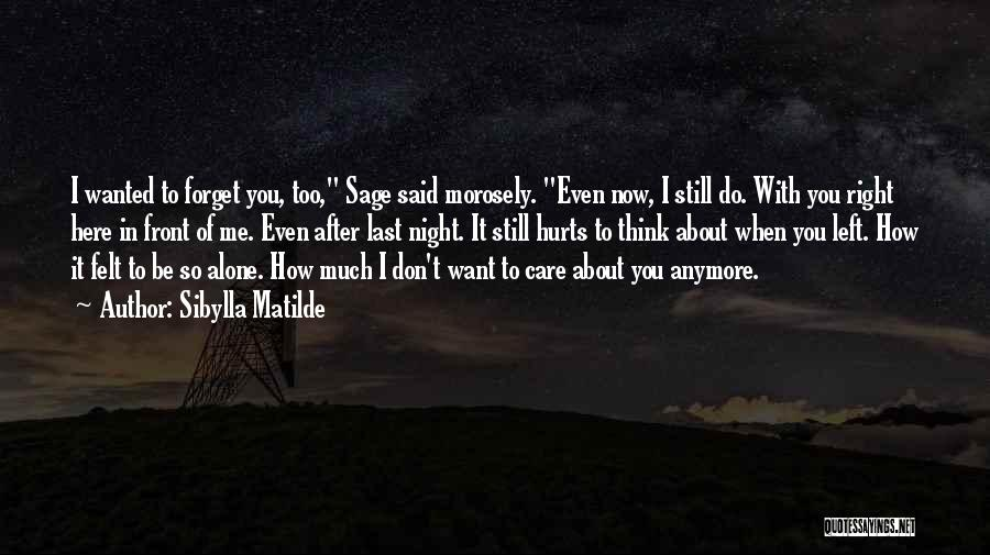 Care Anymore Quotes By Sibylla Matilde