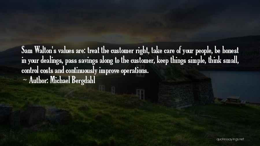 Care For Customer Quotes By Michael Bergdahl
