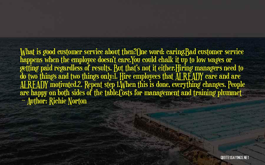 Care For Customer Quotes By Richie Norton