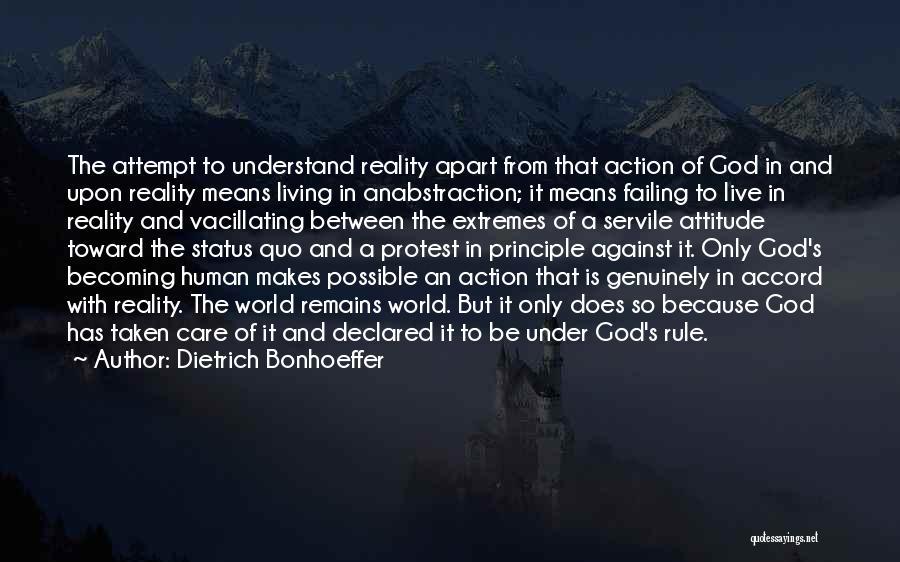 Care Less Attitude Quotes By Dietrich Bonhoeffer