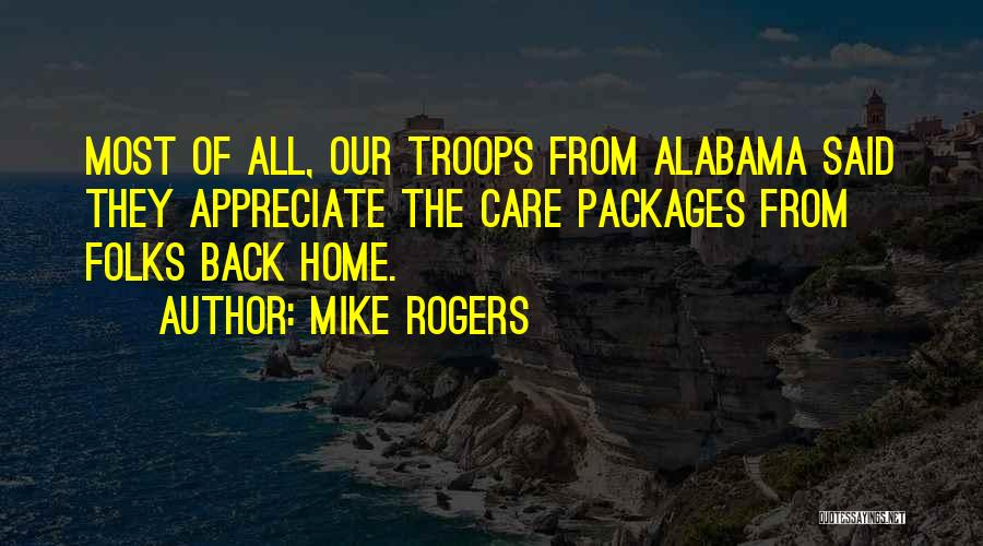 Care Packages Quotes By Mike Rogers
